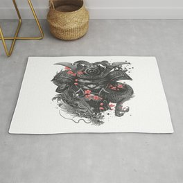 Warrior sleeve tattoo Samurai Irezumi Rug