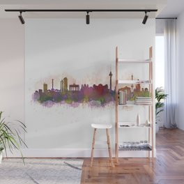 Berlin City Skyline HQ1 Wall Mural