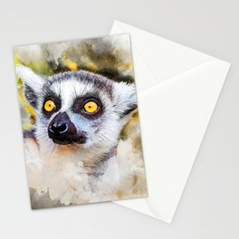 Lemur #lemur #animals Stationery Cards