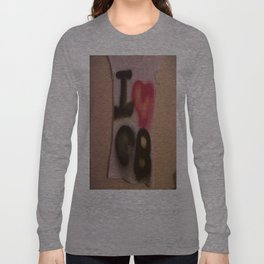 I Love C-B Spray Paint Logo Art Print. Long Sleeve T-shirt