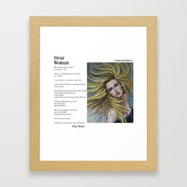 Dear Woman - Super Powers Framed Art Print