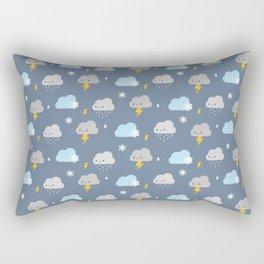 Kawaii Stormy Weather Rectangular Pillow