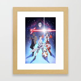 Force Awakens - New kids in the galaxy Framed Art Print