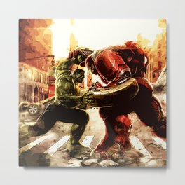 Iron man vs Hulk - Hulkbluster Metal Print