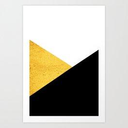 Gold & Black Geometry Art Print