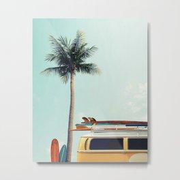 Surf sea palm's Metal Print