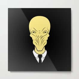 The silence will fall Metal Print