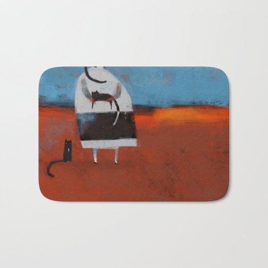 TINY BLACK SHOES Bath Mat