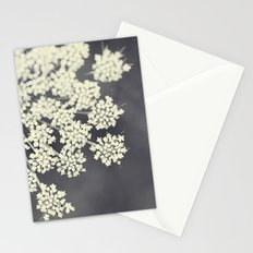 Black and White Queen Annes Lace Stationery Cards