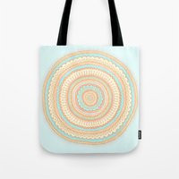 carousel Tote Bags featuring Carousel by Anita Ivancenko