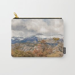 Forest and Snowy Mountains, Patagonia, Argentina Carry-All Pouch
