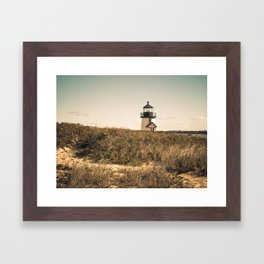 Nantucket Lighthouse Framed Art Print