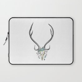 Floral Stag Skull Laptop Sleeve