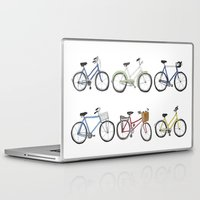 bicycles Laptop & iPad Skins featuring Bicycles by Bianca_CS