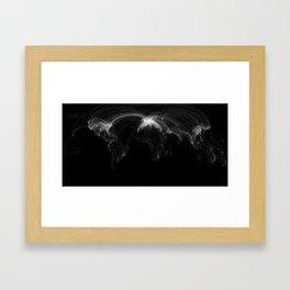 World of Information Framed Art Print
