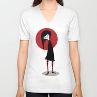 mia wallace V-neck T-shirts featuring Mia by Volkan Dalyan
