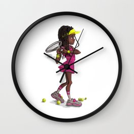 Tennis Girl Wall Clock
