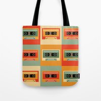 cassette Tote Bags featuring cassette by vitamin
