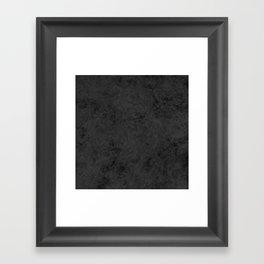Black suede Framed Art Print