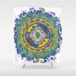 Dynama Sri Yantra Shower Curtain