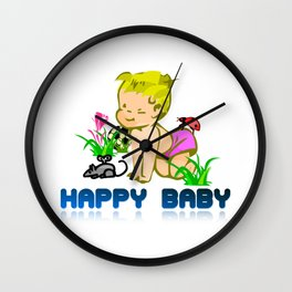 happy baby Wall Clock