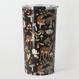 Animals wild nature winter dark Travel Mug