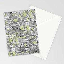 Paris toile eau de nil Stationery Cards
