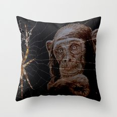 WATCHING THE SPIDER - cversion Throw Pillow