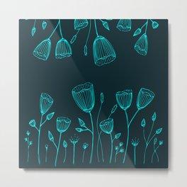Blue Magical Garden Metal Print