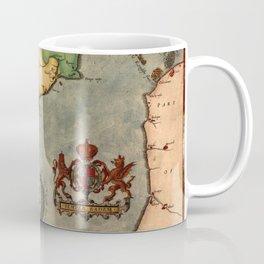 Map Of The English Channel 1588 Coffee Mug