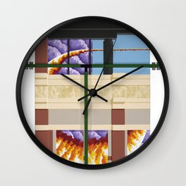 Old Town Sun Cloud Wall Clock