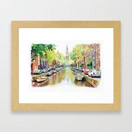 Amsterdam Canal 2 Framed Art Print