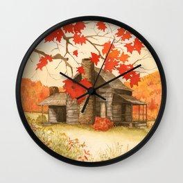 Smoky Mountain Cabin Wall Clock