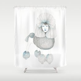 Weird poodles - Lady boy Shower Curtain
