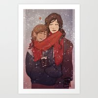 korrasami Art Prints featuring LOK: Korrasami by squidwithelbows