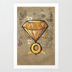 Chaos Emerald Art Print
