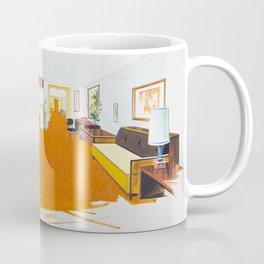 1950's Motel Room Artwork from Wildwood, NJ. Retro Motel Illustration Coffee Mug