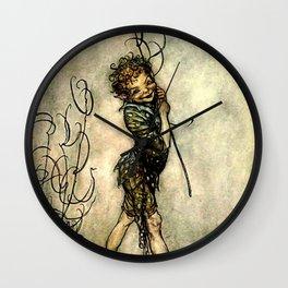 """Puck"" by Arthur Rackham From Shakespeare Wall Clock"