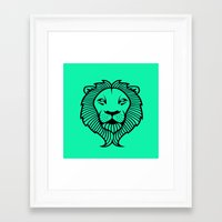 the lion king Framed Art Prints featuring Lion King by ArtSchool