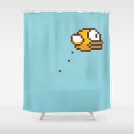 Crappy Bird I Shower Curtain
