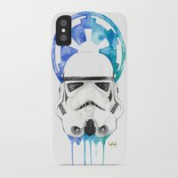 storm trooper iPhone & iPod Cases featuring Storm Trooper by Leigh Roundy