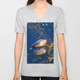 Clams in a Tidal pond Unisex V-Neck