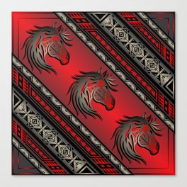 Horse Nation (Red) Canvas Print