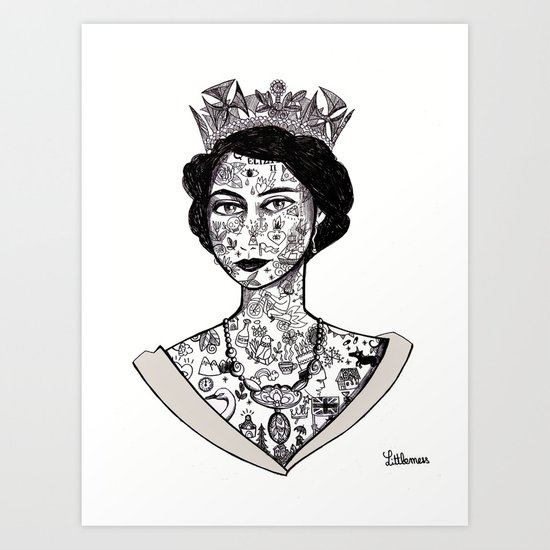 Grief is the price we pay for love - The Queen 2013 Art Print