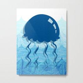 Salty Kisses and Starfish Wishes Set Jellyfish Metal Print