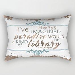 Paradise = Library Rectangular Pillow