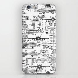 F-18 Blueprints iPhone Skin