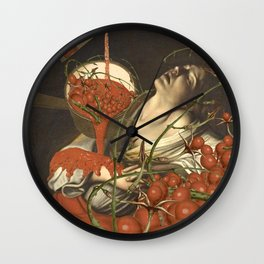 COMPLETE WITH TOMATOES Wall Clock