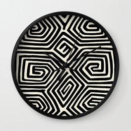 Kuna Indian Butterfly Wall Clock