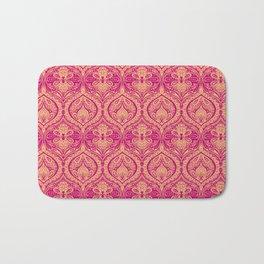 Simple Ogee Pink Bath Mat